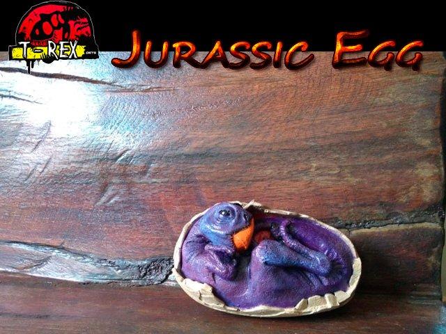 Ovo de dinossauro Toy Action Jurassic Park Resina